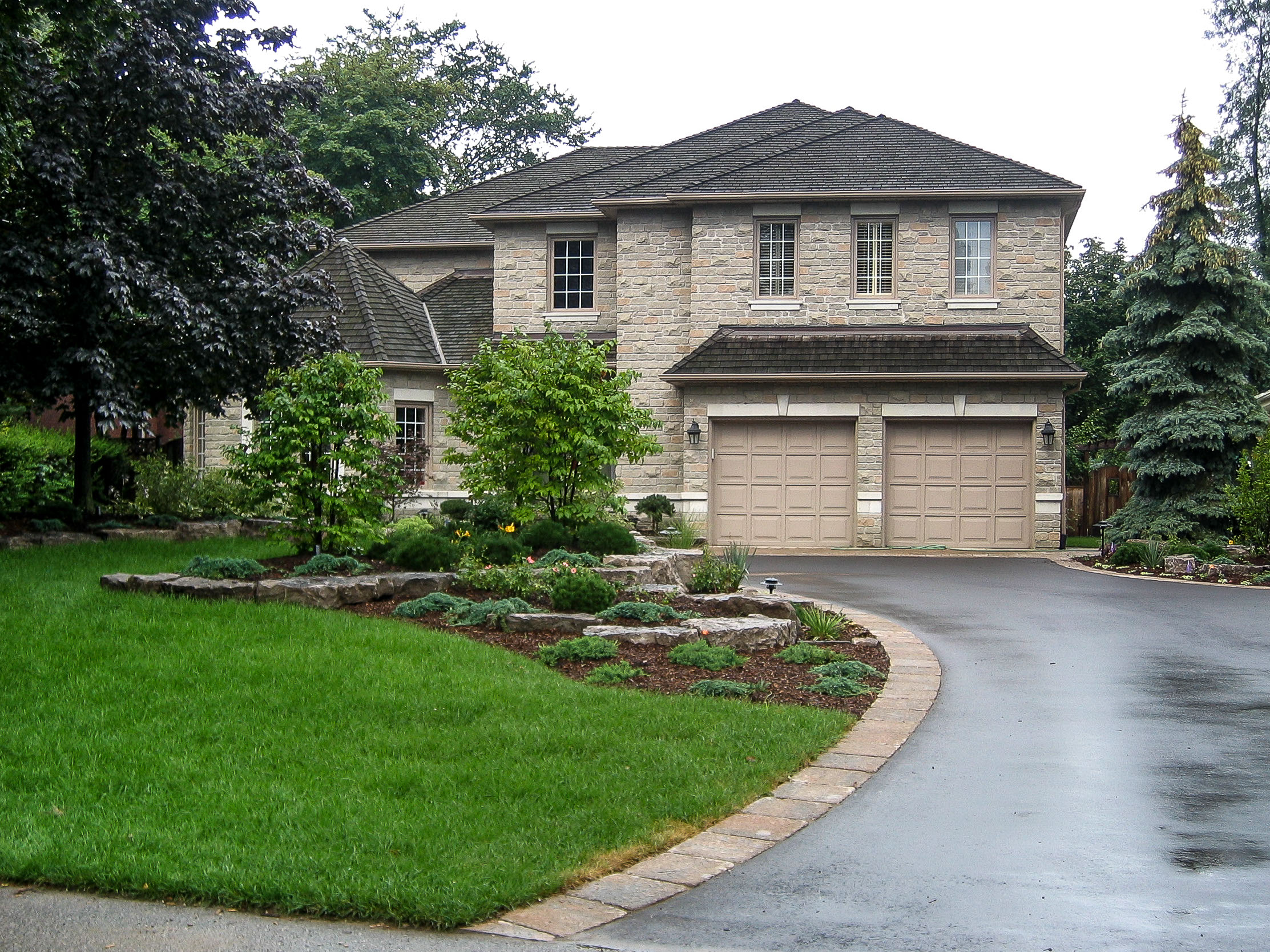 Landscape image residential landscape design and construction serving mississauga oakville
